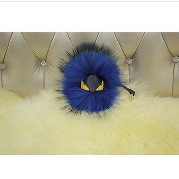 BEADY FUR MONSTER BAG CHARM - BATMAN in BLUE