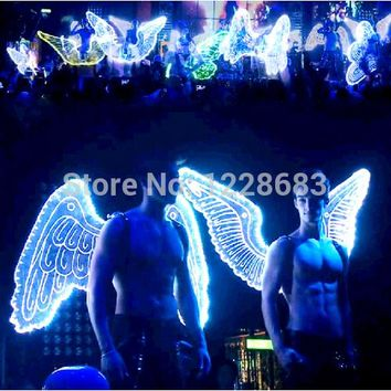 New Arrival 9 Styles High Quality Large Light Up Wings Costume Led Light Wings Women Men Led Wings