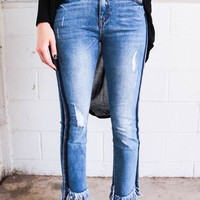 Market Fray Cropped Denim