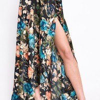 Peony Floral Wrap Skirt