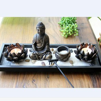 Budda candle holder modern candle stand art burners sculpture home decorative lotus bowl wedding candelabra velas wedding decor