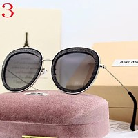 Perfect MiuMiu Women Fashion Summer Sun Shades Eyeglasses Glasses Sunglasses