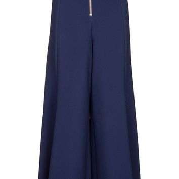 Zip Frill Palazzo Trousers - Workwear - Clothing