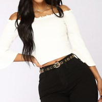 City Streets Long Sleeve Top - White