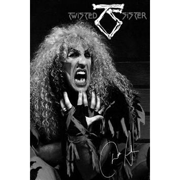 Twisted Sister Poster Standup 4inx6in black and white
