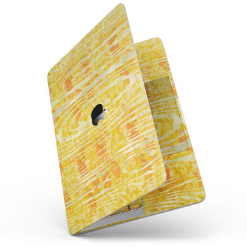 Yellow Watercolor Woodgrain - MacBook Pro without Touch Bar Skin Kit