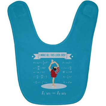 DCCKJY1 Figure Skating Physics Baby Bib
