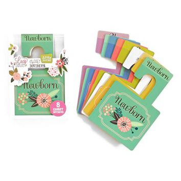 Infant Lucy Darling 'Little Artist' Closet Dividers - Green (8-Pack)