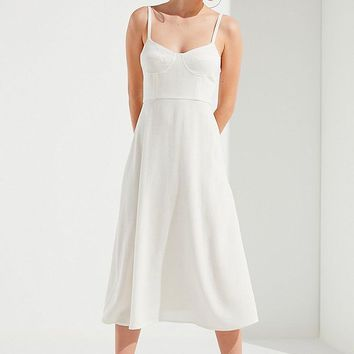 UO Bustier Midi Dress | Urban Outfitters