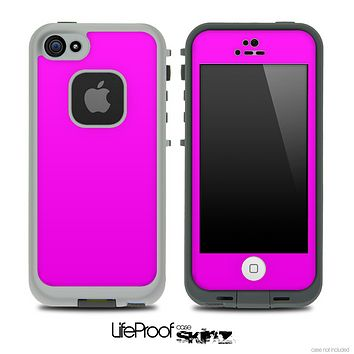 Solid Hot Pink Skin for the iPhone 5 or 4/4s LifeProof Case
