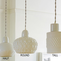 Kathleen Hills Fancy pendant light - White — Bodie and Fou - Award-winning inspiring concept store
