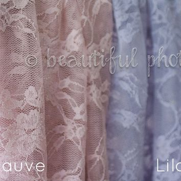Stretch Lace Wrap Purple Tones Newborn Photography Prop Baby