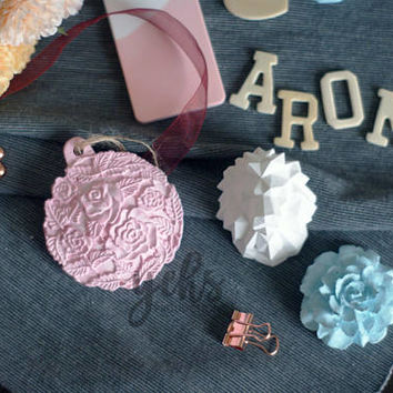 Flower Aroma Scented Stone, Essential Oil Diffuser, Rose Aromatherapy Diffuser Aroma Therapy Sachet, Car Air Refreshener, Car Refresher