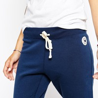 Converse Skinny Sweat Pants With Tie Front & Small Logo Tracksuit