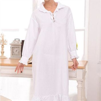 LMFONHS New Arrival Vintage Nightgowns Sleepshirts Elegant Lady Dresses Princess Sleepwear Lace Home Dress Sexy Sleep & Lounge #H122