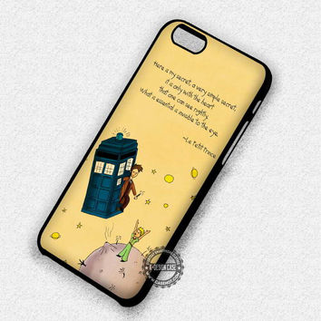 Book Story Quotes The Little Prince Tardis - iPhone 7 6 5 SE Cases & Covers