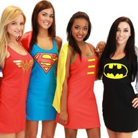 DC Comics Tank Dress with Detachable Cape - DC Comics - | TV Store Online