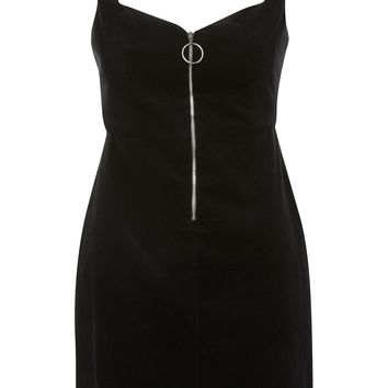 Cord Pinafore Dress - Dresses - Clothing