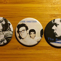 The Smiths Pinback Buttons Set Of 3 Morrissey