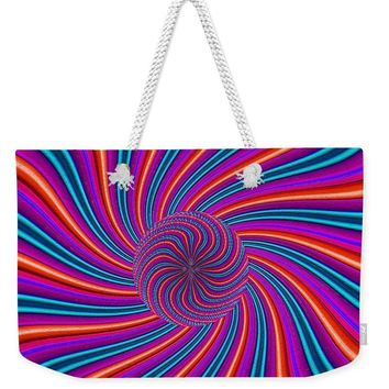Purple Pink Swirl - Weekender Tote Bag