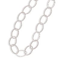 60in Hammered Oval Link Necklace