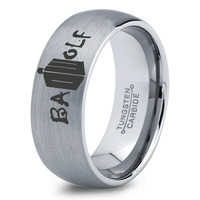 Dr Who Ring Doctor Time Lord Design Bad Wolf Gallifrey Symbol Ring Mens Geek Sci Fi Jewelry Boys Girl Women Ring Fathers Day Gift Holiday Tungsten Carbide 192