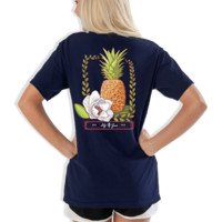 Lilly Grace Short Sleeve Tee- Pineapple Magnolia