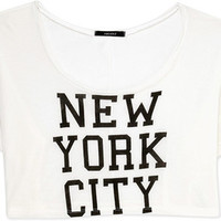 City-Chic NYC Cropped Tee