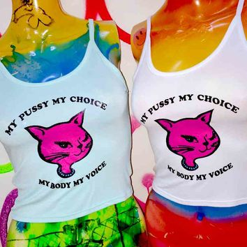 SWEET LORD O'MIGHTY! FEMINIST KITTY TANK IN MINT
