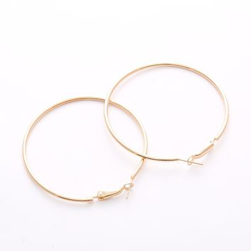 Hot Sale Hoop Earrings Big Smooth Circle Earrings Basketball Brincos Celebrity Brand Loop Earrings for Women Jewelry