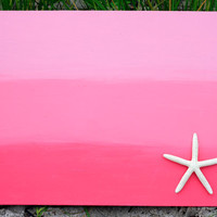 Ombre Starfish Painting in Pink