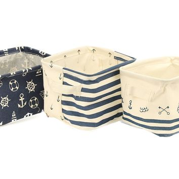 Small Storage Bins Set of 3