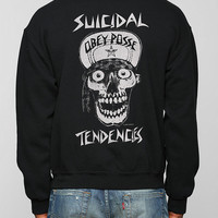 OBEY X Suicidal Tendencies Cap Skull Pullover Sweatshirt  - Urban Outfitters