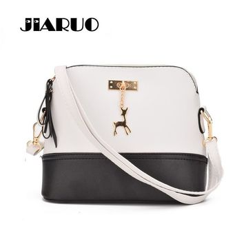 JIARUO Small Shell Crossbody bag For Women 2017 Handbag And Purses Hard Shoulder Messenger bags Shopper Cheap Women Hand bag