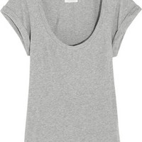 MiH Jeans The Scoop Neck cotton-jersey T-shirt – 55% at THE OUTNET.COM