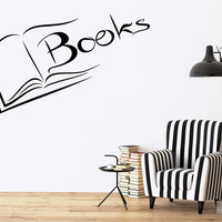 Vinyl Decal Books Wall Sticker Reading Room Library Science Decor for School University (ig2521)