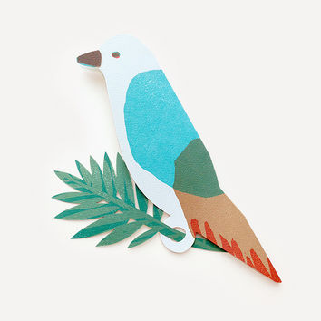 Parrot Greeting Card, Blue Version