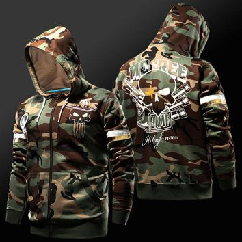 Overwatch McCree Deadeye Camo Zip-Up Hoodie