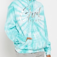 Girl Power Holographic Tie Dye Hoodie | Hoodies | rue21