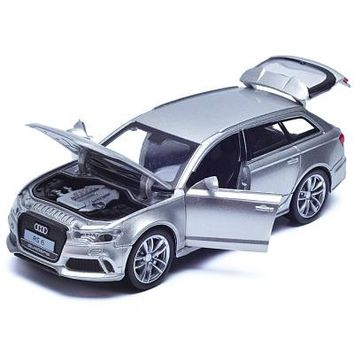 Double Horses 1:32 Scale Diecast Alloy Metal Luxury SUV Car Model For Audi RS6 Quattro Collection Model Pull Back Toys Car With