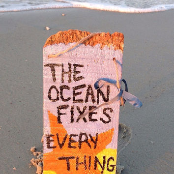 Hand Painted Beach Sign Signs The Ocean Fi Everything
