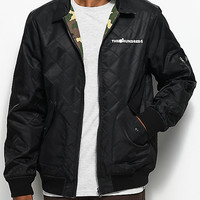 The Hundreds Tanner Black & Camo Reversible Bomber Jacket | Zumiez