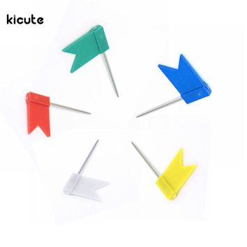 20pcs Flag Push Pins Nail Thumb Tack Cork Board Map Drawing Pins For Home Office School Stationery Supplies 5 Colours