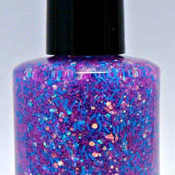 Candy Floss Custom Iridescent Glitter Nail Polish
