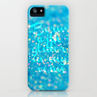 Born with Glitter in my Veins iPhone Case by Beth - Paper Angels Photography | Society6