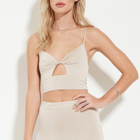Twist-Front Cropped Cami