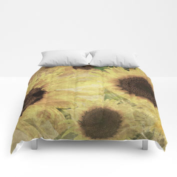 Wallflowers Comforters by Theresa Campbell D'August Art