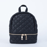 Mini Quilted Leather Backpack