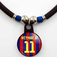 Neymar Jr Barcelona 2013/14 Soccer Jersey Necklace