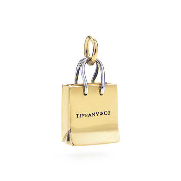 Tiffany & Co. - Tiffany & Co.® shopping bag charm. Yellow and white gold.